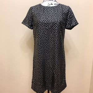NWT J Crew Gold Heart Shift Dress Size 4